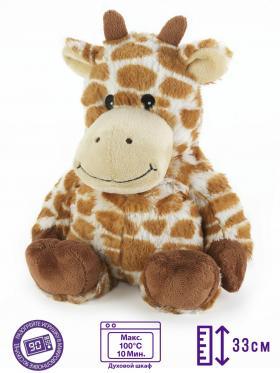 Пинкл (Pinkl) | Игрушка-грелка Жираф | Cozy Plush Microwaveable Soft Toy Giraffe Intelex | Подарки